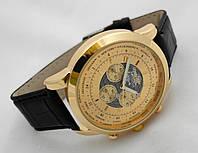 Мужские часы BREITLING 1884 кварцевые, корпус золотистый, циферблат gold