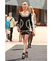 Модное короткое женское платье