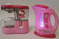 Детский игровой набор: кофеварка и чайник YY-214-1 Hello Kitty
