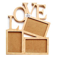 Фоторамка Love на 3 фото 10х15 см