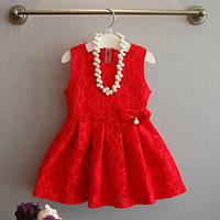 Детское платье  нарядное гипюровое
