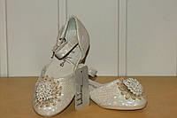 Туфли нарядные на девочку 23-32 белые