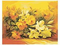 """Картина по номерам """"Букет в желтом цвете"""" 40х50 см. КН2037. Идейка."""