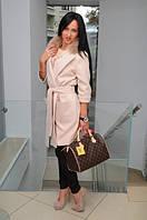 Пальто женское с мехом №1