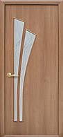 Дверное полотно Лилия ПВХ (2х0.7м) ольха с узором