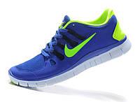 Кроссовки мужские беговые Nike Free Run 5.0 (найк фри ран, оригинал) синие