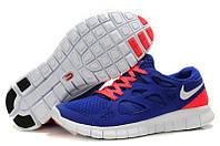 Кроссовки мужские беговые Nike Free Run Plus 2 (найк фри ран, оригинал) синие