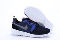 Кроссовки мужские беговые Nike Roshe Run (найк роше ран, оригинал) темно-синие