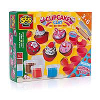 Масса для лепки незасыхающая Фруктовые кексы (4 цвета, инструменты) Ses