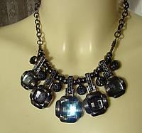 Ожерелье женское колье модное металл ювелирная бижутерия 4160