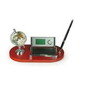 Набор настольный 6094 (глобус, календарь, часы, визитница, ручка)