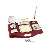 Набор настольный CA2211 (глобус, ручка, визитница, подставка под бумагу, под скрепки)