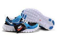 Кроссовки детские Nike Free Run Kids (найк фри ран кидс, оригинал) голубые