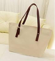 Стильная Модная женская сумка, повседневная, бежевая