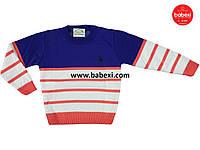 Джемпер для мальчика 98-104, 110-116, 134-140 (маломерит). Турция. Кофта, водолазка, свитер детский