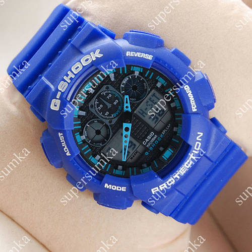 Часы наручные Casio GA-100 Blue/Black/Azure 614