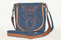 Женская джинсовая сумка с логотипом Майкла Джексона