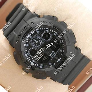 Надежные спортивные наручные часы Casio GA-100 All Black 619