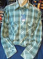 Рубашка фланель  серая  004