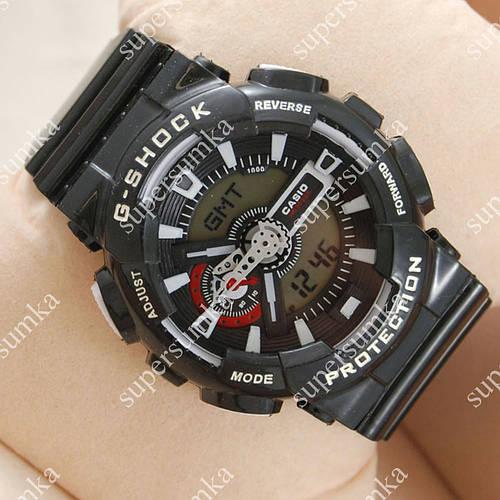 Модные спортивные наручные часы Casio GA-110 Black/Black/Gray 625