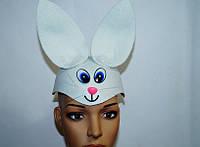 Новогодняя маска - шляпа Белый Заяц