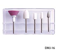 Насадки для фрезера (5 шт., из точильного камня, войлока) с алмазным напылением Lady Victory LDV DMJ-16 /16-1