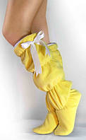 Тапочки-сапожки tf 23 высокие желтые