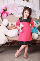 Стильное коралловое платье для ребенка