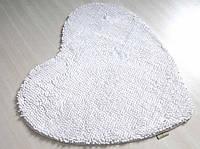 Коврик для ванной 70х70 IRYA LOVELY белое сердце