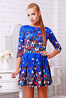 Модное короткое платье с пышным низом Бабочки