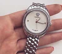 Часы наручные Versace часы серебряные со стразами копия