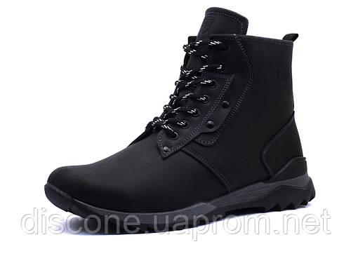 Ботинки зимние TH, мужские, черные, кожаные