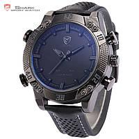 Мужские часы SHARK LED Digital Black Leather