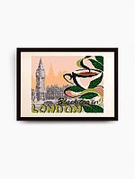 """Схема для вышивки бисером VKA4401 """"... на черный чай в Лондон """""""