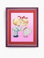 Схема для вышивки бисером Сл-КС-132 Первый поцелуй малышей