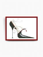 Схема для вышивки бисером Сл-КС-022 Ля Мур-р-р. Виола