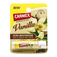 Бальзам для губ Carmex Vanilla Stick - Кармекс Ваниль Стик, с УФ 15