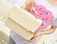 Стильная Модная женская сумочка, бежевая, фабричная