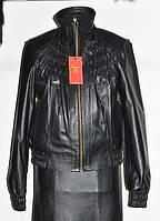 Куртка кожаная на молнии резинка;длина-55см 44р 46р 48р 50р