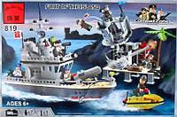 Конструктор детский Brick Военный корабль 819