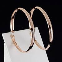 Неотразимые серьги-кольца, покрытые золотом 0375