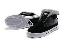 Кроссовки зимние мужские Nike High Top Fur (найк, оригинал) черные