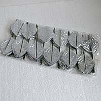 Листья розы искусственные (серебро)