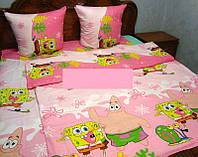 Постельное белье для детей ''Губка Боб'' розовое