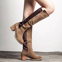 Демисизонные женские сапожки на квадратном каблуке