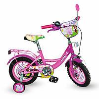 Велосипед Лунтик 16 дюймов детский двухколесный голубой, фиолетовый