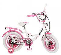 Велосипед Хеллоу Китти 12 дюймов Hello Kitty детский двухколесный белые колеса