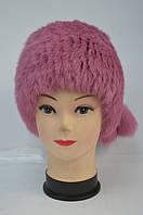 Меховая шапка - кубанка женская розовая Модель 33