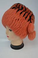 Меховая шапка - кубанка оранжевый окрас Модель 34