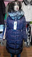 Пальто зимнее Visdeer с мехом финской чорнобурки